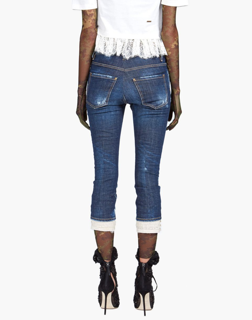 cool girl cropped jeans denim Woman Dsquared2