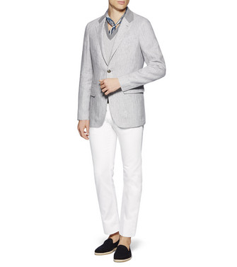 ERMENEGILDO ZEGNA: Regular Fit Weiß - 42506461UM