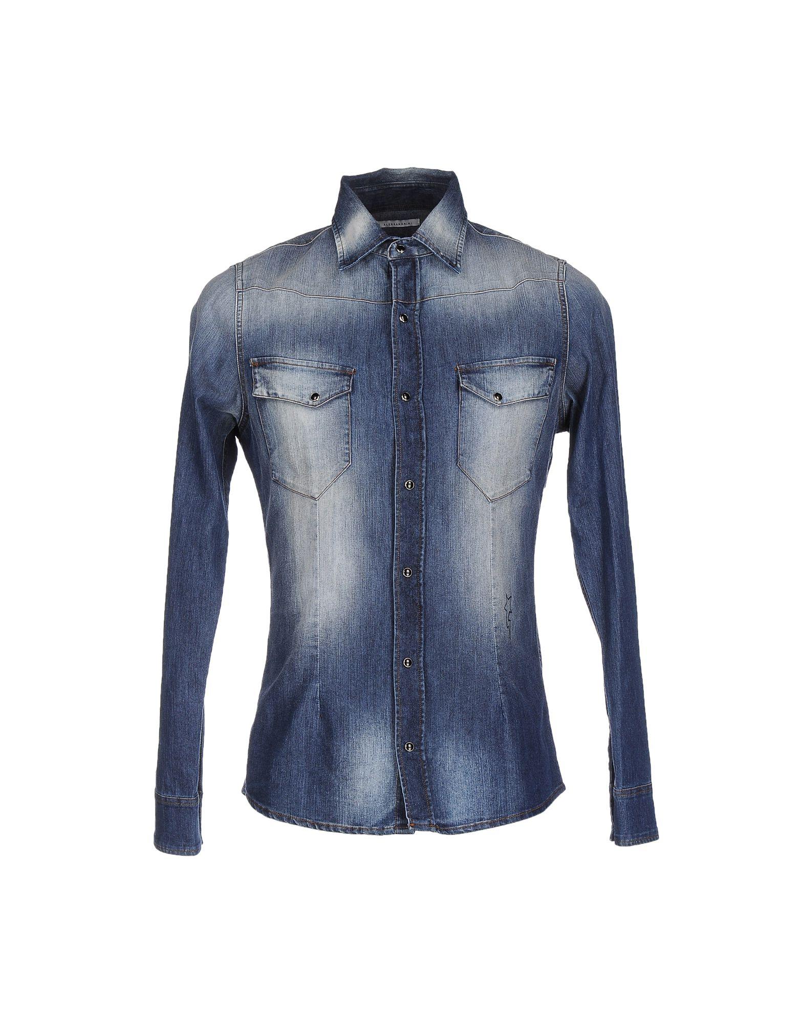 DANIELE ALESSANDRINI Denim shirts