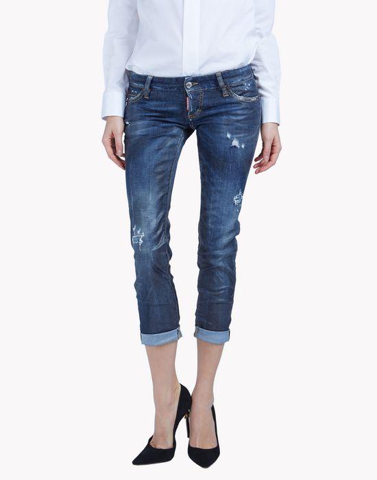 pat jeans denim Woman Dsquared2