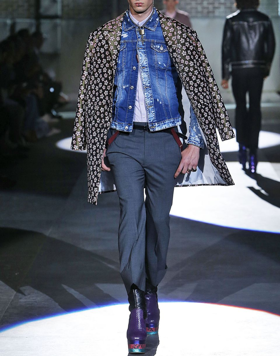 denim jacket coats & jackets Man Dsquared2