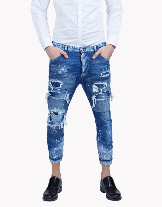 Dsquared2 Glam Head Jeans Blue 5 Pockets For Men