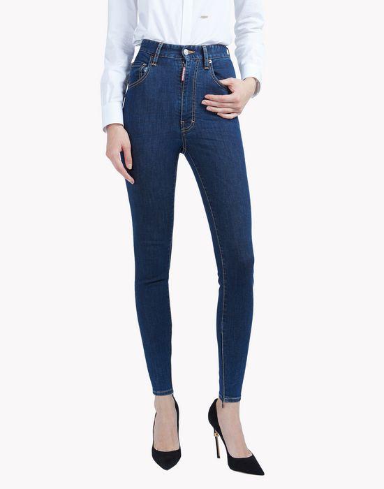 high waist skinny jeans denim Woman Dsquared2