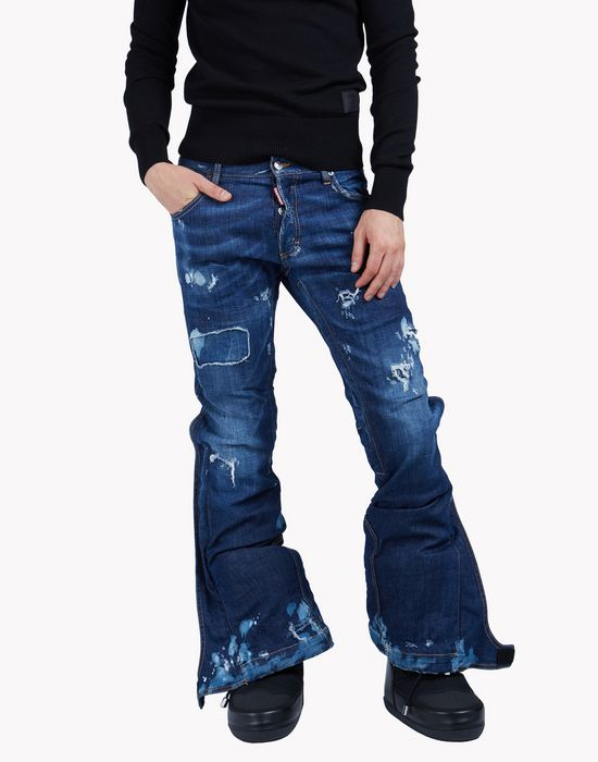 distressed flared jeans denim Man Dsquared2