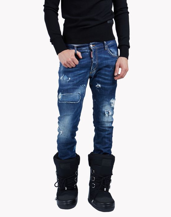 distressed gaiter jeans denim Man Dsquared2