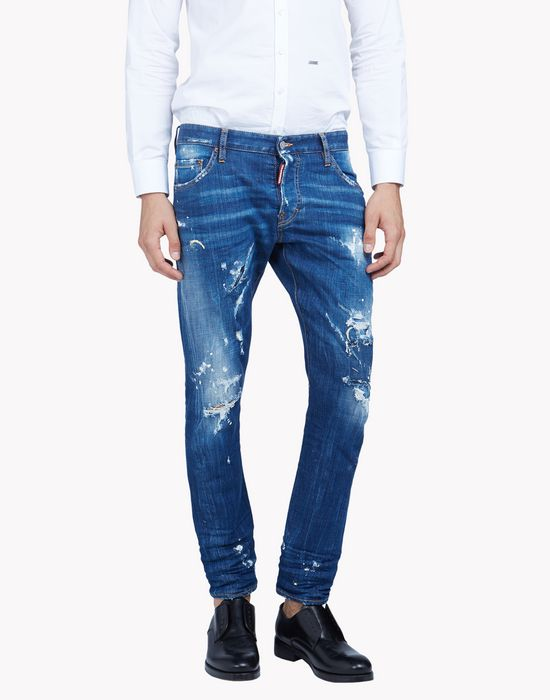 sexy twist distressed jeans denim Man Dsquared2