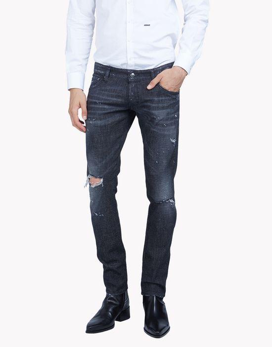 clement distressed sparkle jeans denim Man Dsquared2