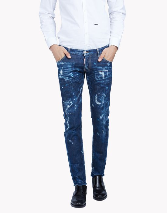 clement bleached jeans denim Man Dsquared2