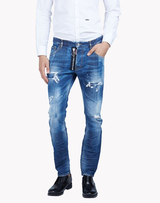 skater distressed jeans denim Man Dsquared2