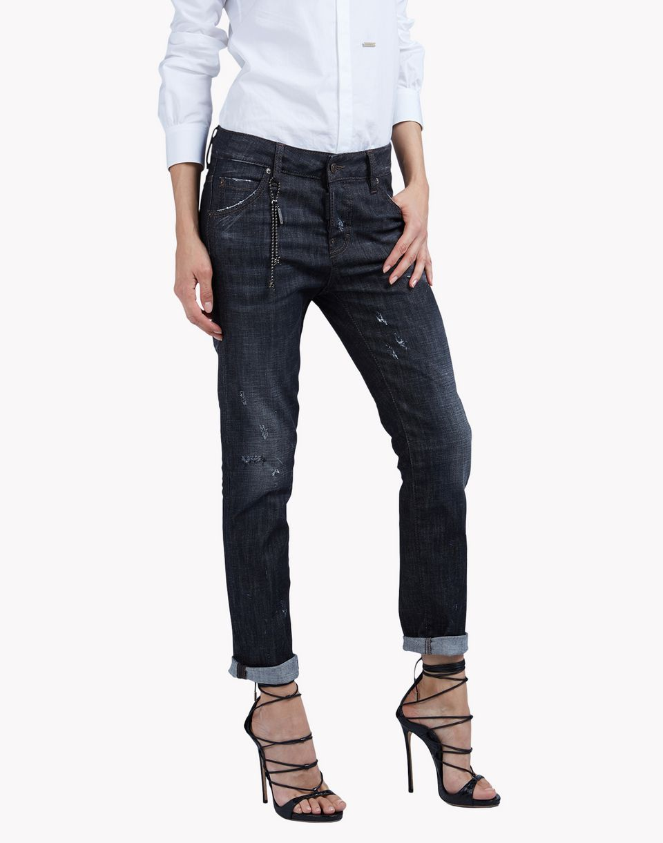 cool girl black wash jeans denim Woman Dsquared2