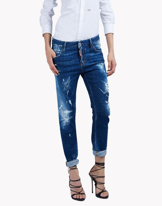cool girl distressed jeans denim Woman Dsquared2