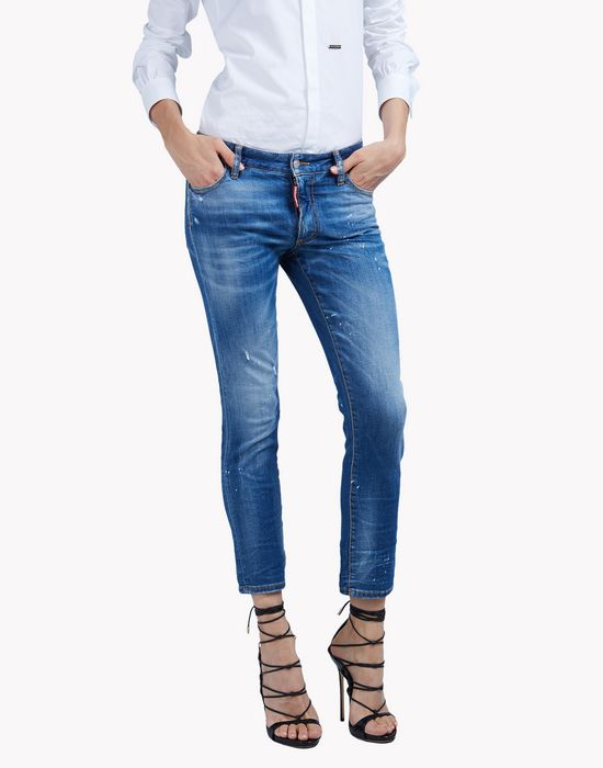 twiggy faded jeans denim Woman Dsquared2