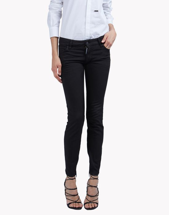 twiggy black wash jeans denim Woman Dsquared2