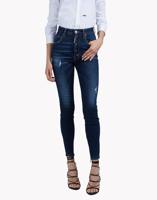 twiggy high waisted jeans denim Woman Dsquared2