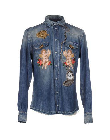 Джинсовая рубашка DOLCE & GABBANA 42560797NG