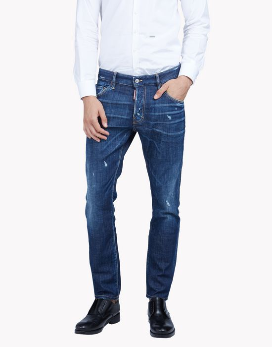 skater faded jeans denim Man Dsquared2