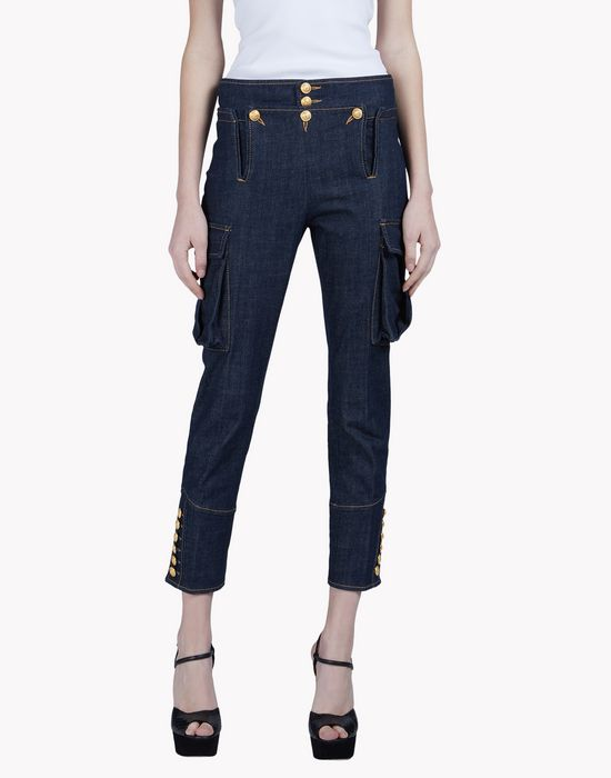 livery denim pants trousers Woman Dsquared2