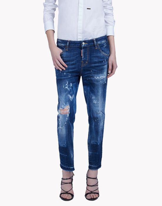 cool girl cropped jeans moda vaquera Mujer Dsquared2