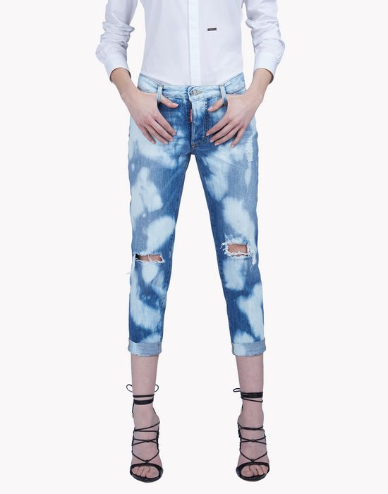 glam head jeans denim Woman Dsquared2