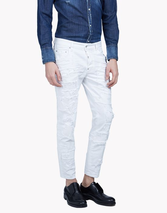 white wash jeans denim Man Dsquared2