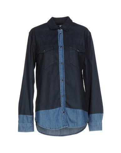 Джинсовая рубашка SANDRO. Цвет: синий