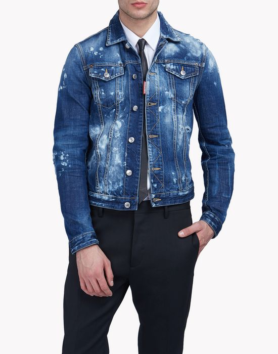 baker denim jacket coats & jackets Man Dsquared2