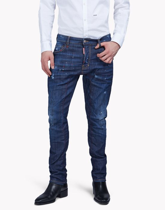 tidy biker jeans denim Man Dsquared2