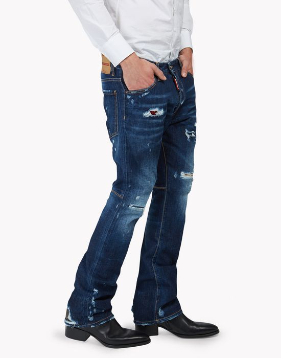 glam boot jeans denim Man Dsquared2