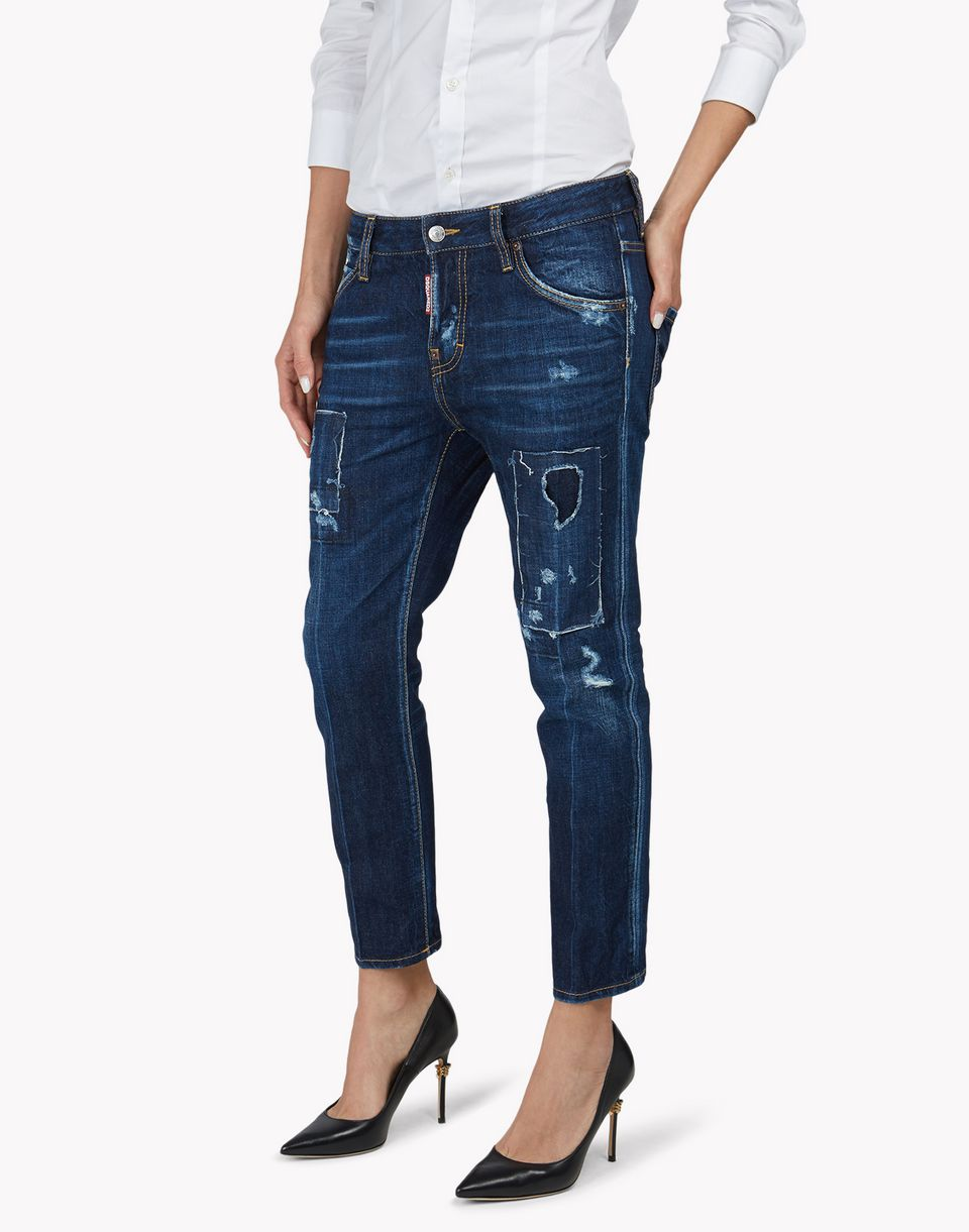 cool girl cropped jeans denim Damen Dsquared2