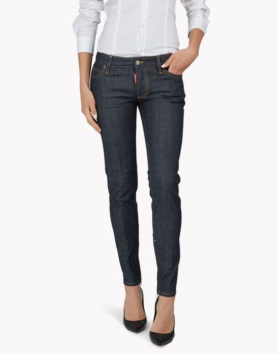 medium waist skinny jeans denim Woman Dsquared2