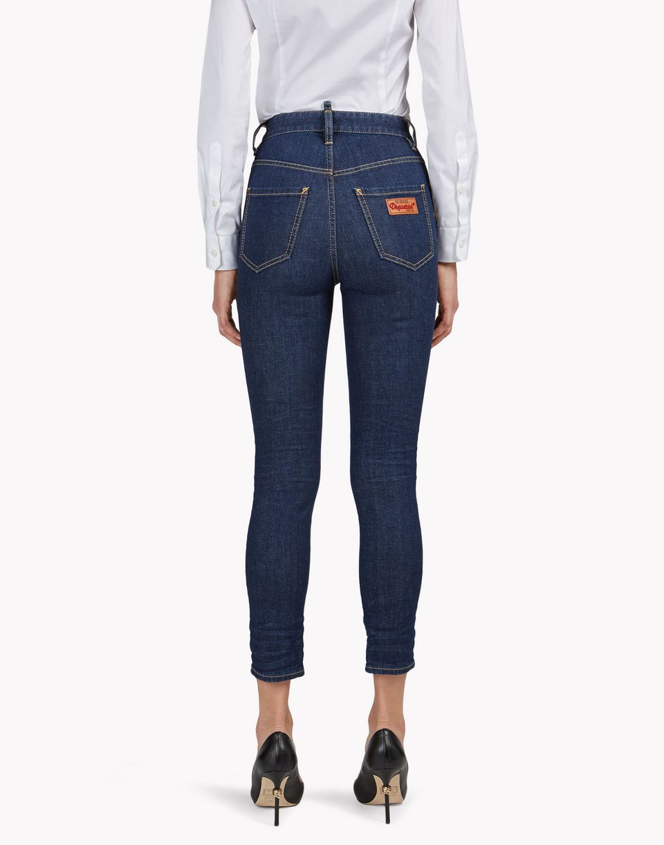 cropped twiggy jeans denim Woman Dsquared2