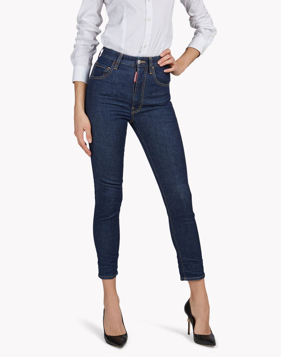 cropped twiggy jeans denim Damen Dsquared2