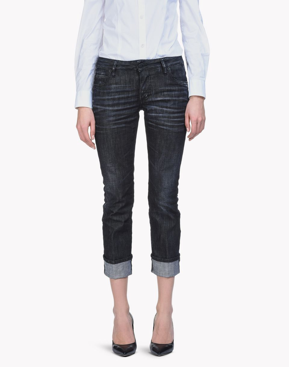 cropped flare jeans denim Woman Dsquared2