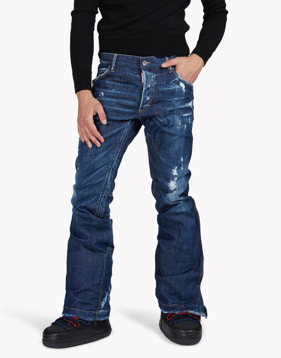 technical ski flared jeans  jeans Uomo Dsquared2