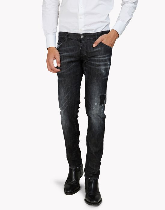 dsquared2 men 39 s jeans skinny regular distressed official store. Black Bedroom Furniture Sets. Home Design Ideas