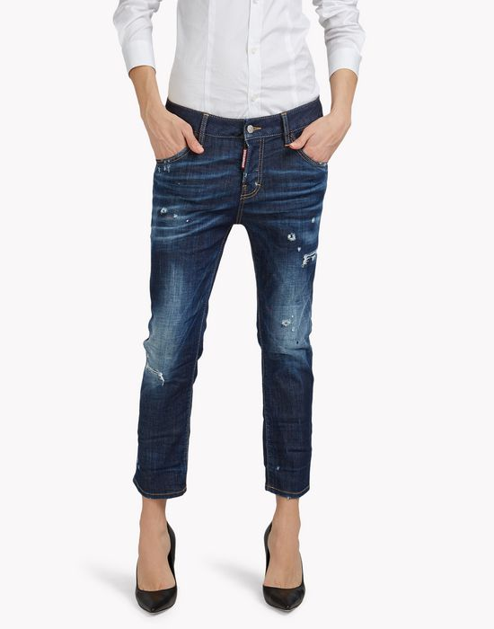 cropped cool girl jeans denim Woman Dsquared2
