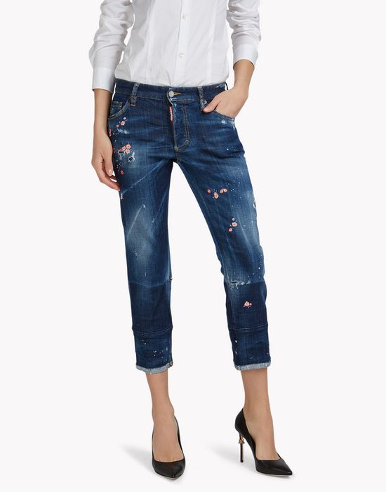 boyfriend jeans denim Woman Dsquared2
