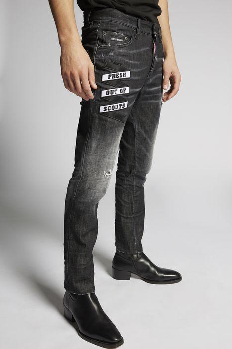 black foggy skater jeans denim Man Dsquared2