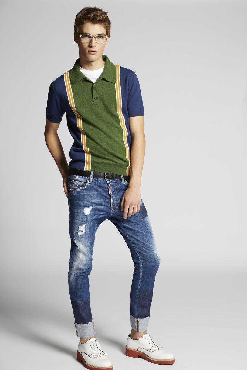 medium patch skater jeans moda vaquera Hombre Dsquared2