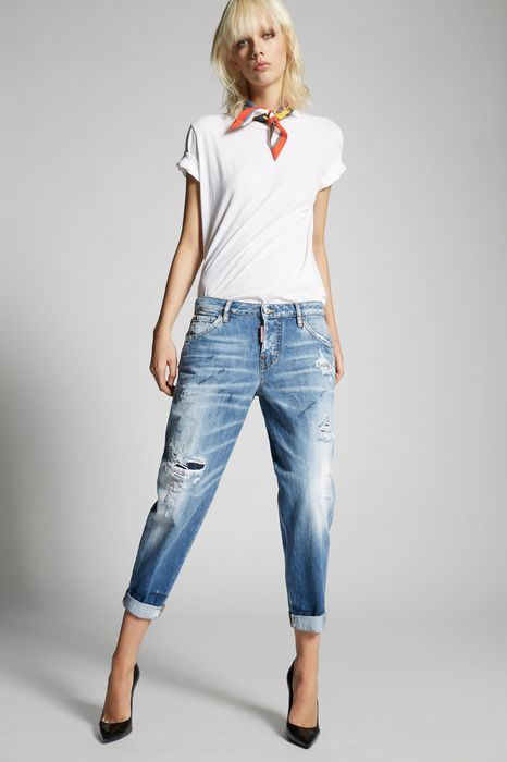 light blue marks hockney jeans denim Woman Dsquared2