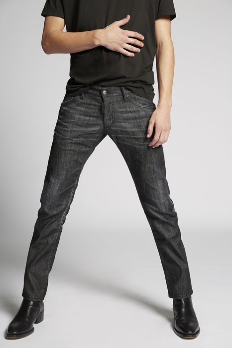 black regular clement jeans denim Man Dsquared2