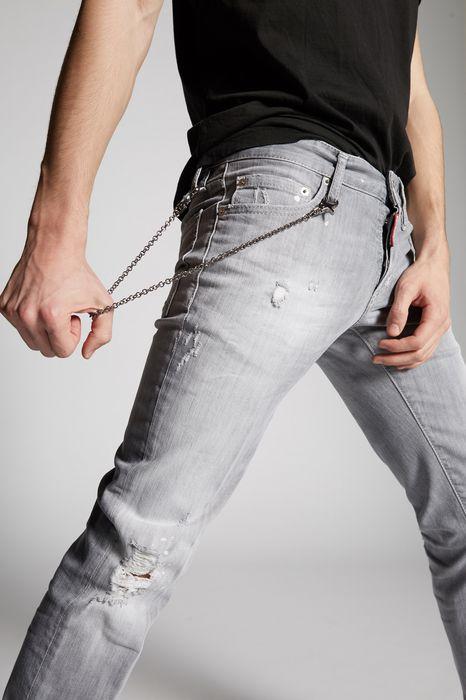 grey broken slim jeans denim Man Dsquared2