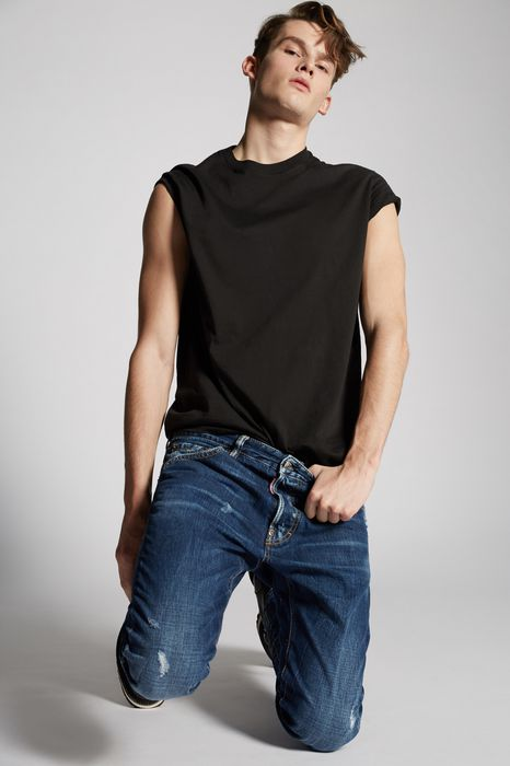 dark cool guy jeans denim Man Dsquared2