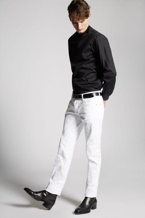 white bull slim jeans denim Man Dsquared2