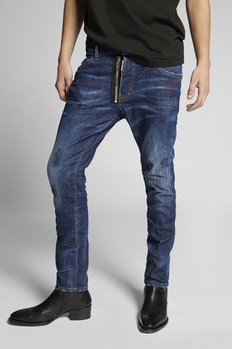 weird limited edition skater jeans denim Man Dsquared2