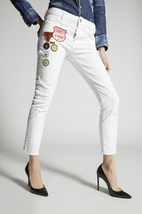 garment dyed cool girl jeans denim Woman Dsquared2