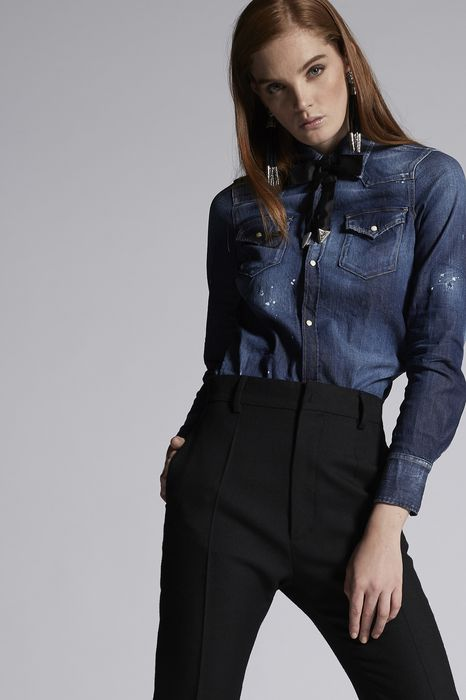 denim western shirt shirts Woman Dsquared2
