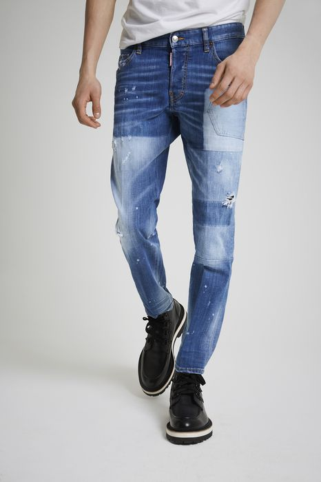 light patch pocket skater jeans denim Man Dsquared2