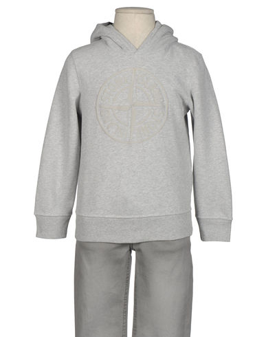 STONE ISLAND JUNIOR - Hooded sweatshirt