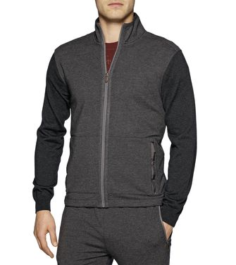 ZEGNA SPORT: Sweatshirt Blue - Steel grey - 43183051BK